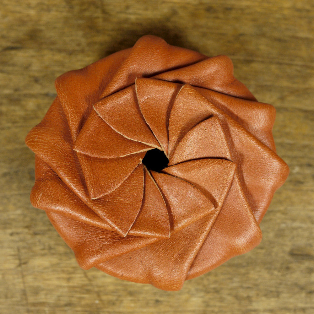 Leather Coin Pouch - Cognac Tan