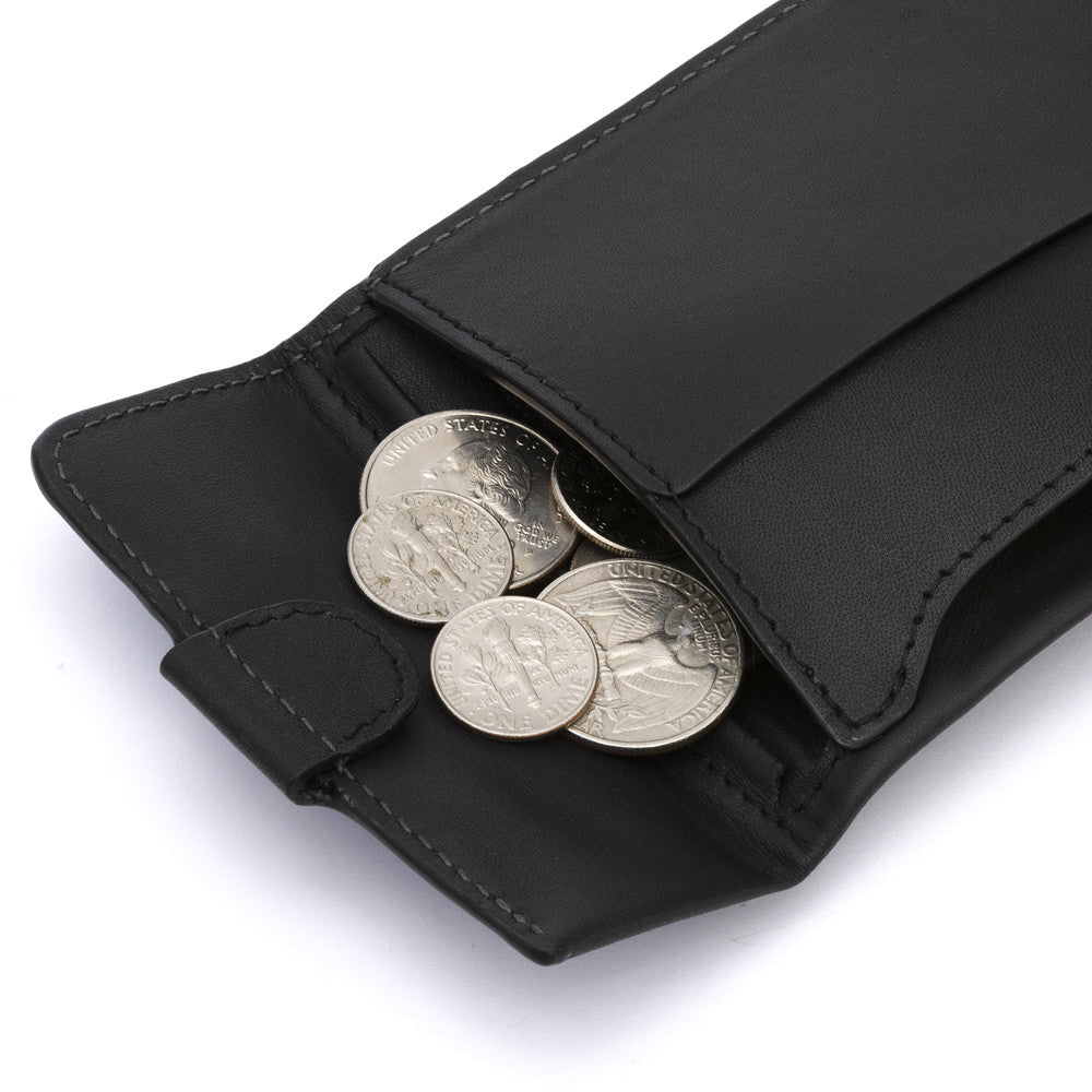 Coin Fold Wallet - Black
