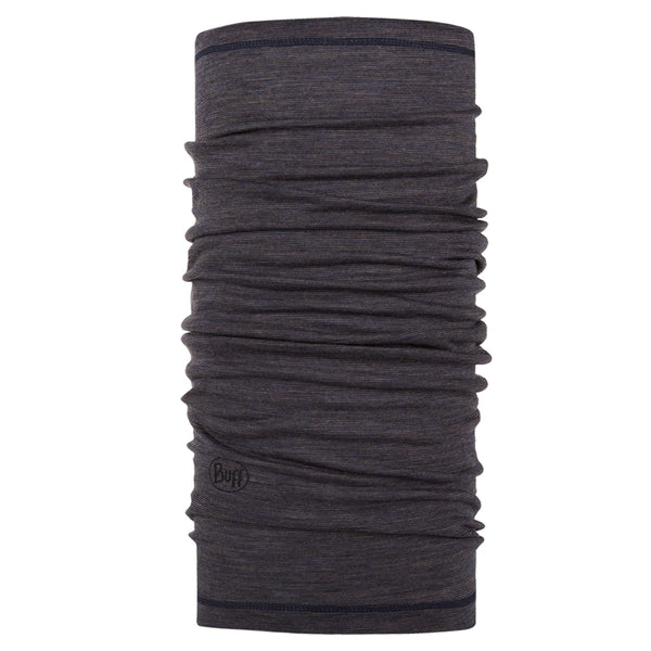 Merino Wool Buff - Charcoal Grey Multi Stripes