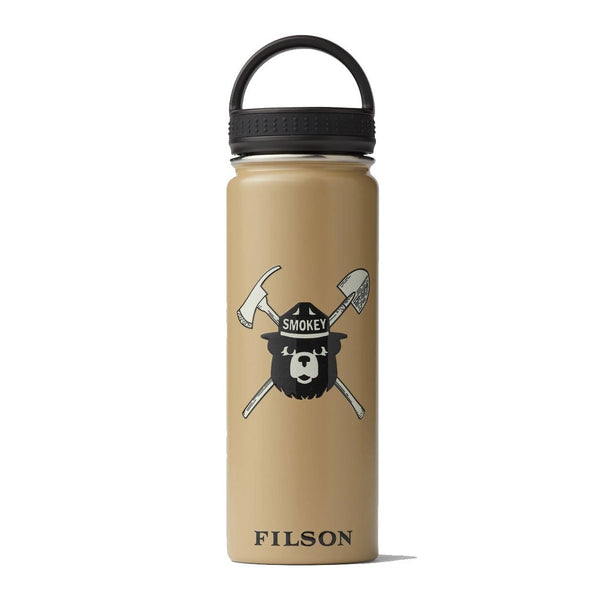 Smokey Bear Insulated Water Bottle - Tan