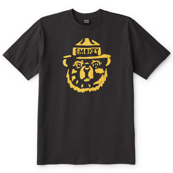 Smokey Bear Short-Sleeve T-Shirt - Faded Black