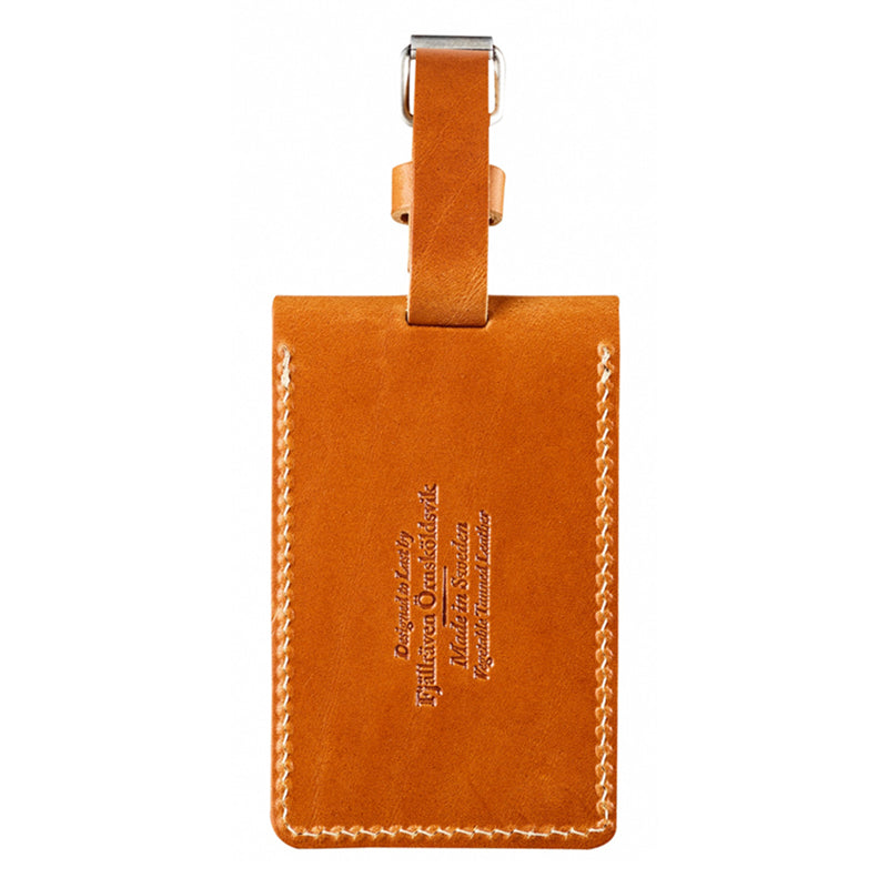 Leather Luggage Tag - Cognac