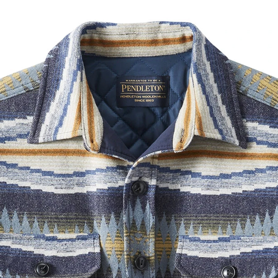 Jacquard Quilted CPO Shirt Jacket - Crescent Bay