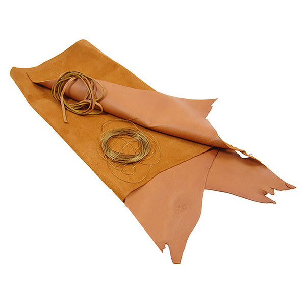 Sew Your Own Reindeer Leather Coffee Bag Kit - Cognac Tan