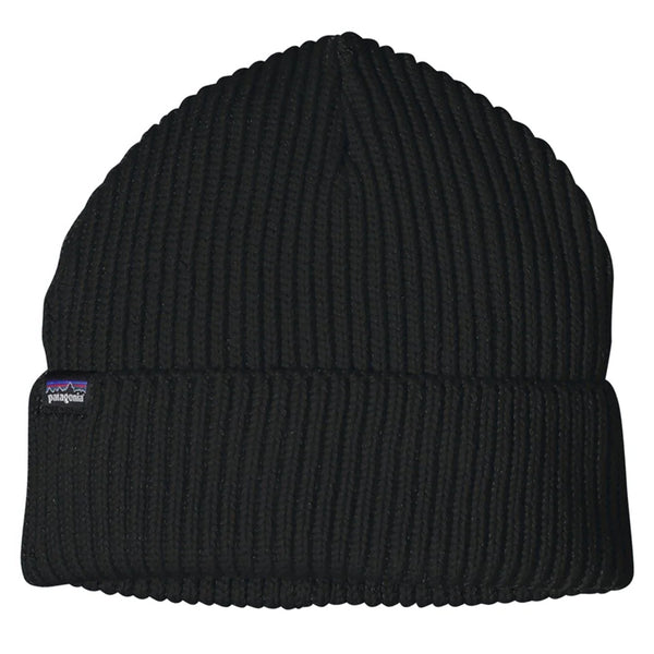 Fisherman's Rolled Beanie - Black