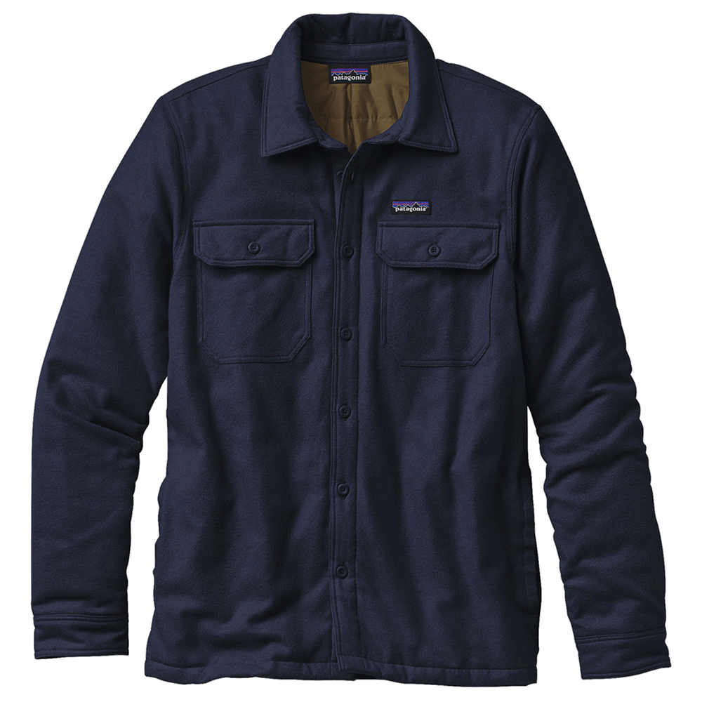 M's Insulated Fjord Flannel Jacket - Navy Blue