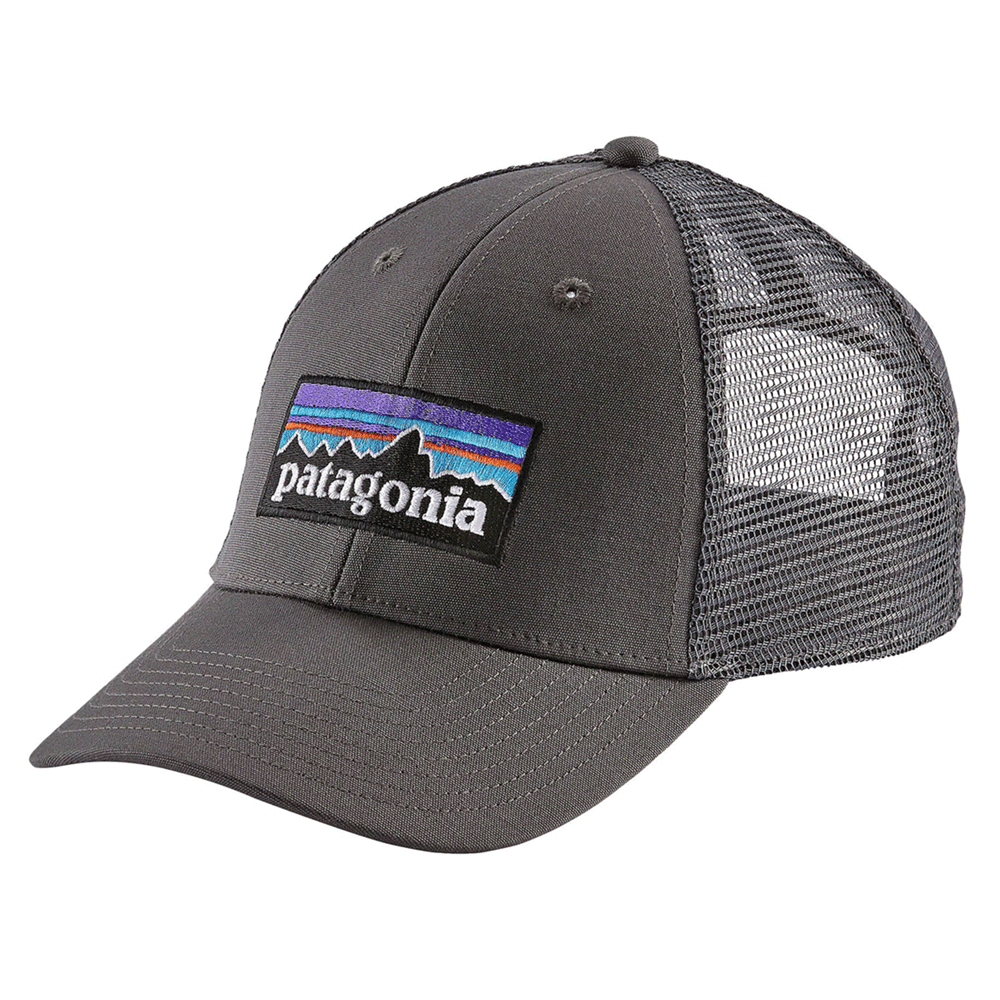 88d5180fc6a The Brokedown Palace - Patagonia - P-6 Logo LoPro Trucker Hat - Forge Grey