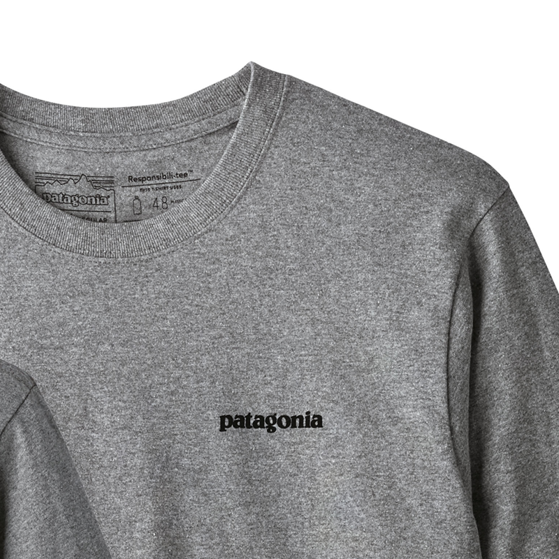 M's Long Sleeved P-6 Logo Responsibili-Tee - Gravel Heather