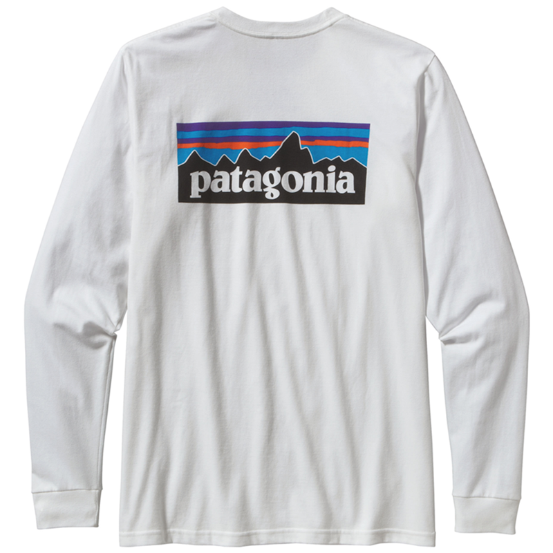 M's Long Sleeved P-6 Logo Responsibili-Tee - White