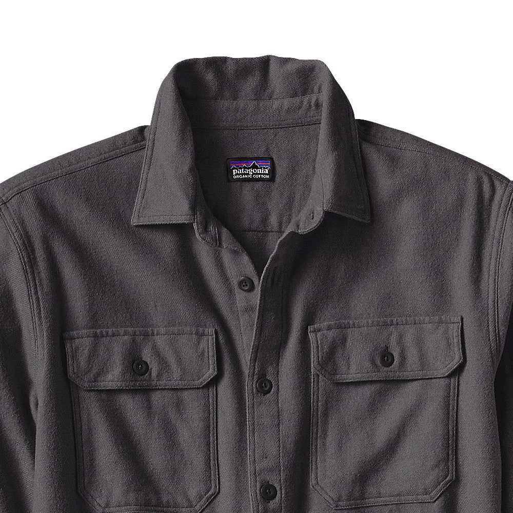 M's LS Fjord Flannel Shirt - Forge Grey