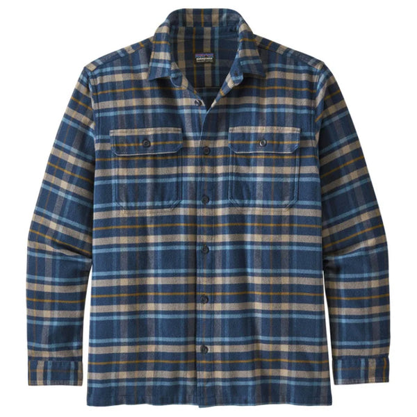 Men's LS Fjord Flannel Shirt - Independence: New Navy