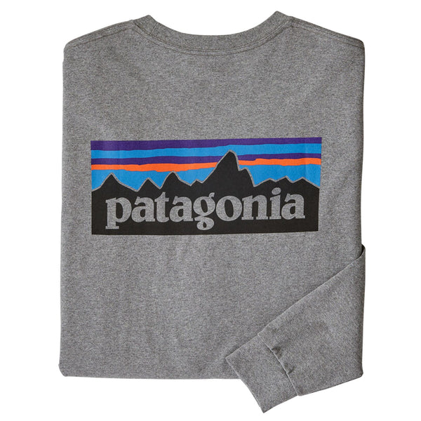 Men's Long Sleeved P-6 Logo Responsibili-Tee - Gravel Heather