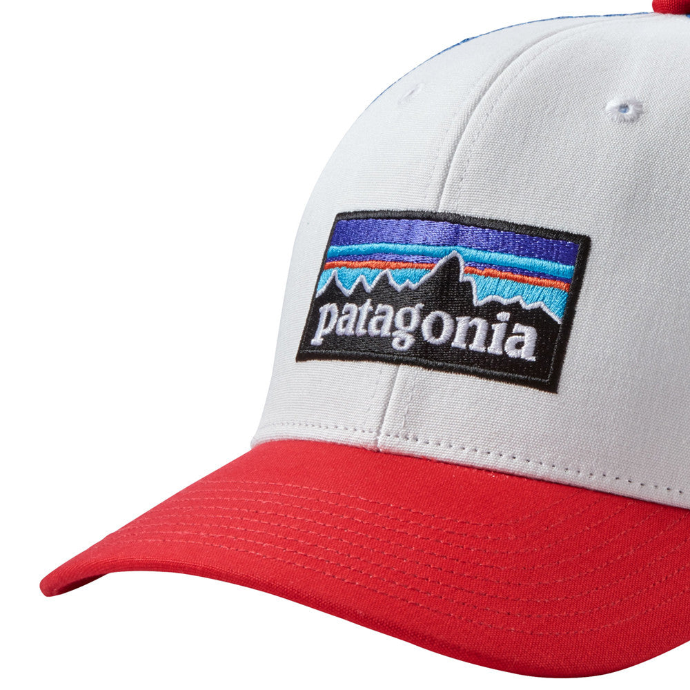 P-6 Logo Trucker Hat - White w/Fire/Andes Blue