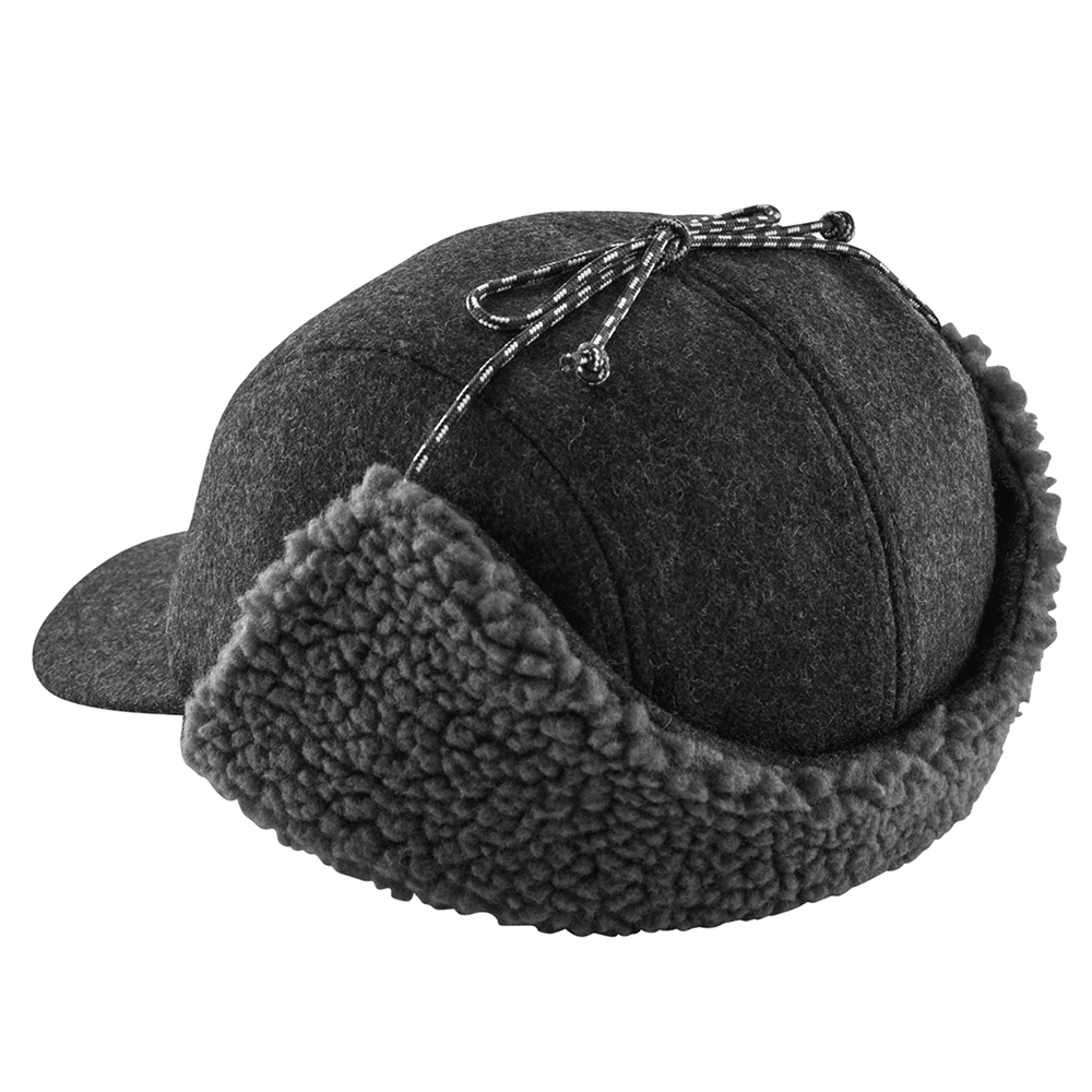 Recycled Wool Ear Flap Cap - Classic Navy
