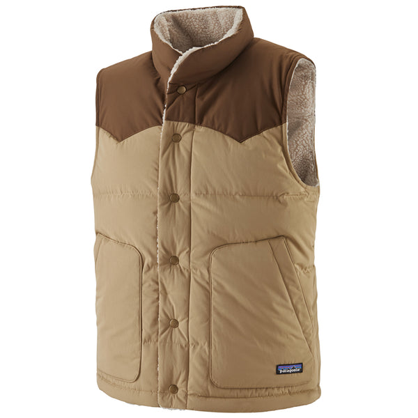 Men's Reversible Bivy Down Vest - Classic Tan