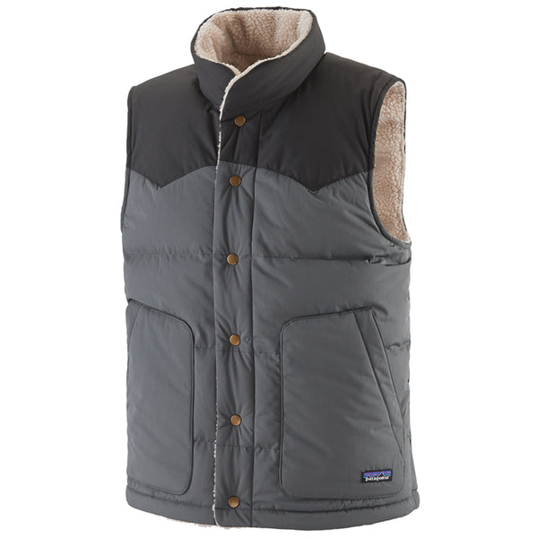 Men's Reversible Bivy Down Vest - Forge Grey