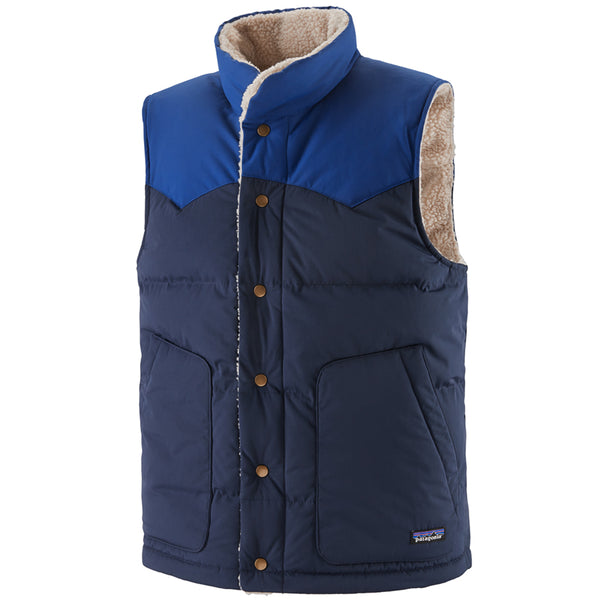 Men's Reversible Bivy Down Vest - New Navy