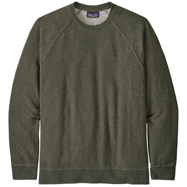 M's Trail Harbor Crew Sweatshirt - Long Plains: Basin Green