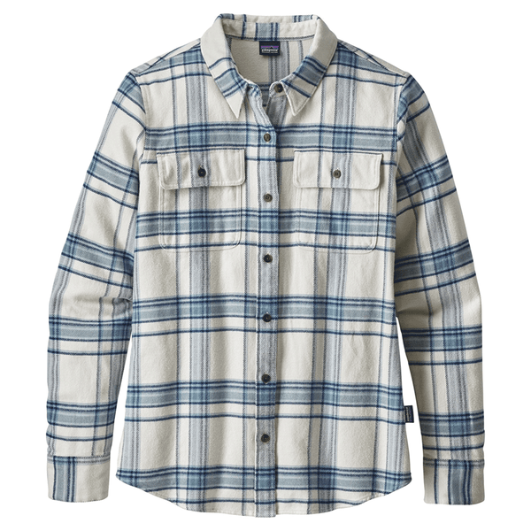 W's LS Fjord Flannel Shirt - Activist Big: Birch White