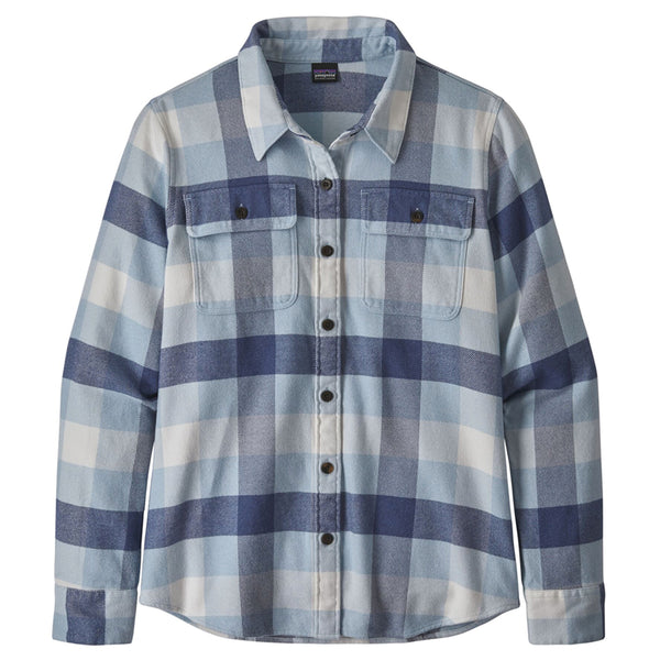 Women's LS Fjord Flannel Shirt - Upriver: Woolly Blue