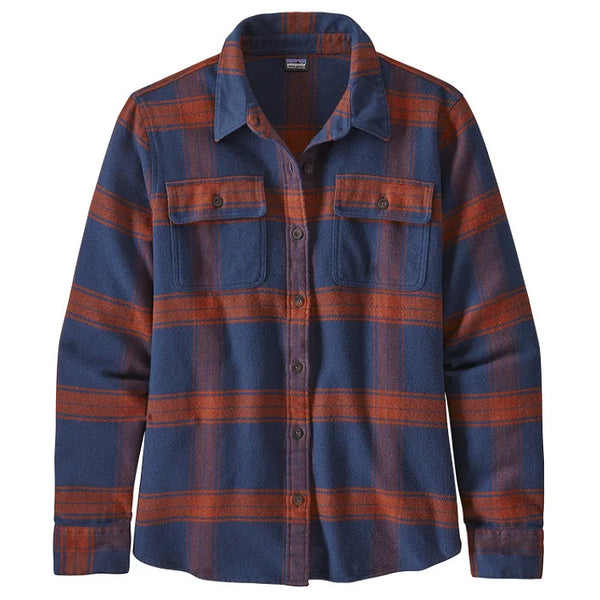 Women's LS Fjord Flannel Shirt - Burlwood: New Navy