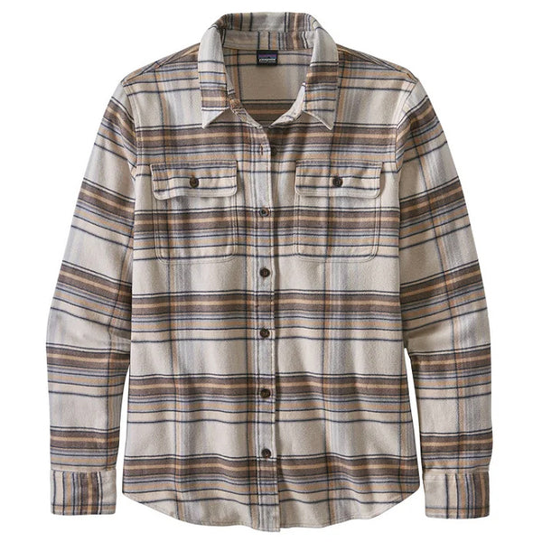 Women's LS Fjord Flannel Shirt - Cabin Time: Birch White