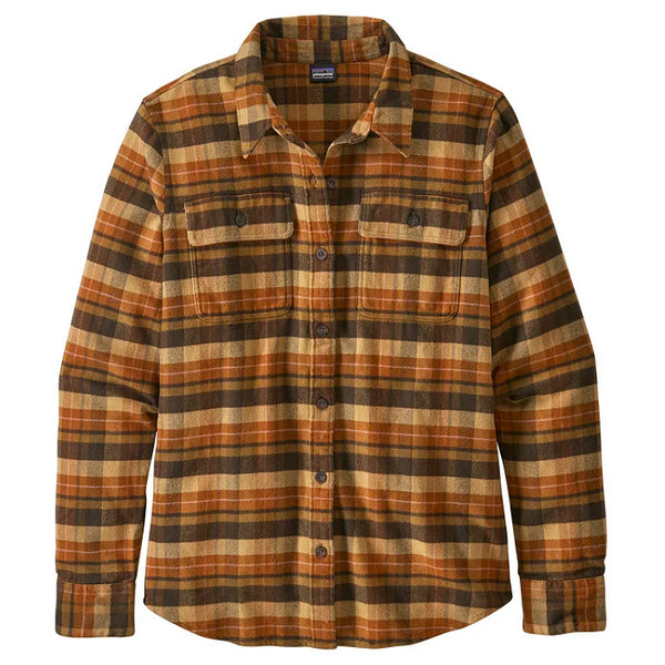 Women's LS Fjord Flannel Shirt - Pistil: Harvest Tan