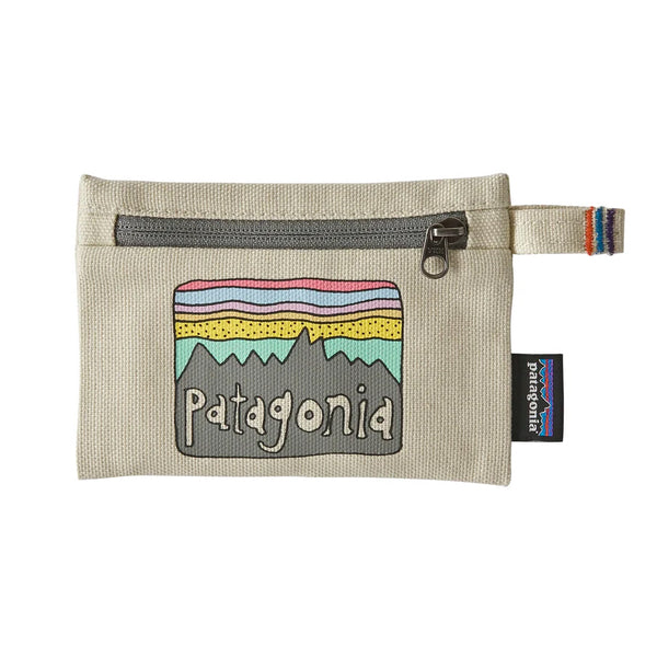 Small Zippered Pouch - Fitz Roy Skies: Bleached Stone