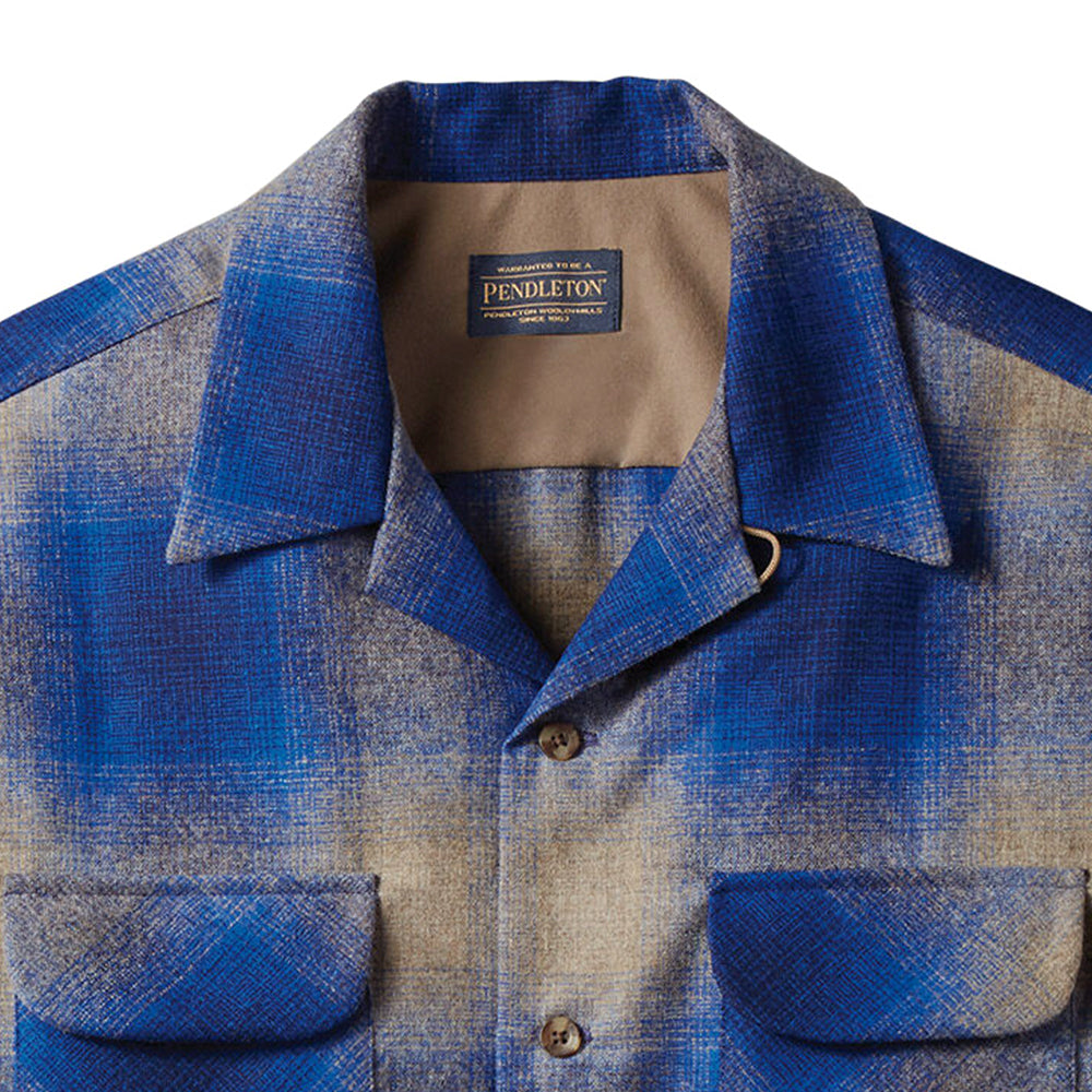 Classic Board Shirt - Tan / Blue Ombre