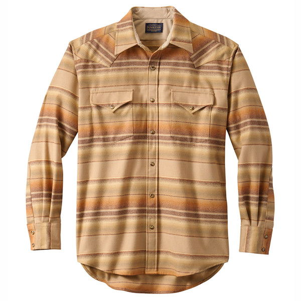 Classic Canyon Shirt - Tan Ombre Stripe