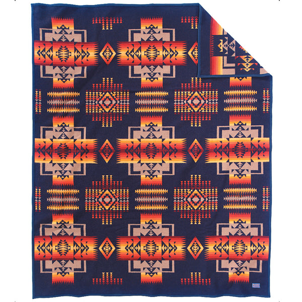 Chief Joseph Blanket Robe - Indigo