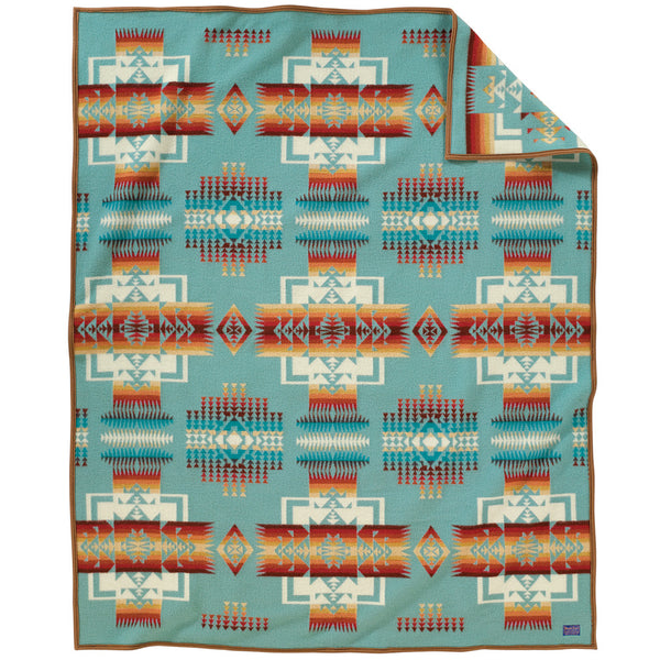 Chief Joseph Blanket Robe - Aqua