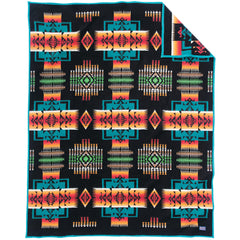 Chief Joseph Blanket Robe - Black