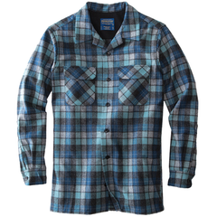 Fitted Board Shirt - Blue Original Surf Plaid