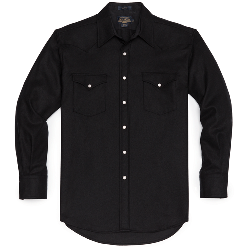 Fitted Canyon Shirt - Black Solid