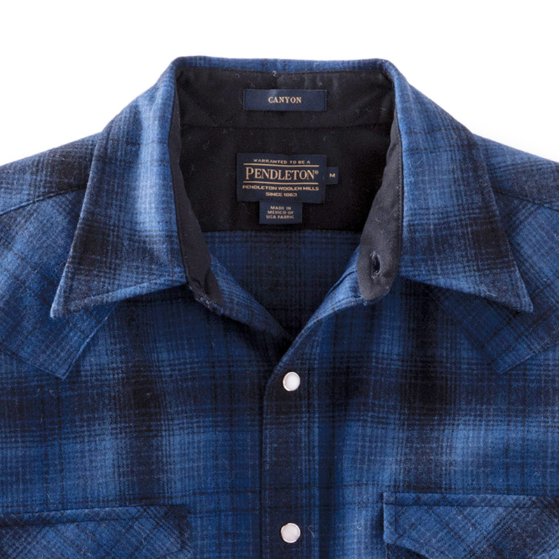 Fitted Canyon Shirt - Blue/Black Ombre