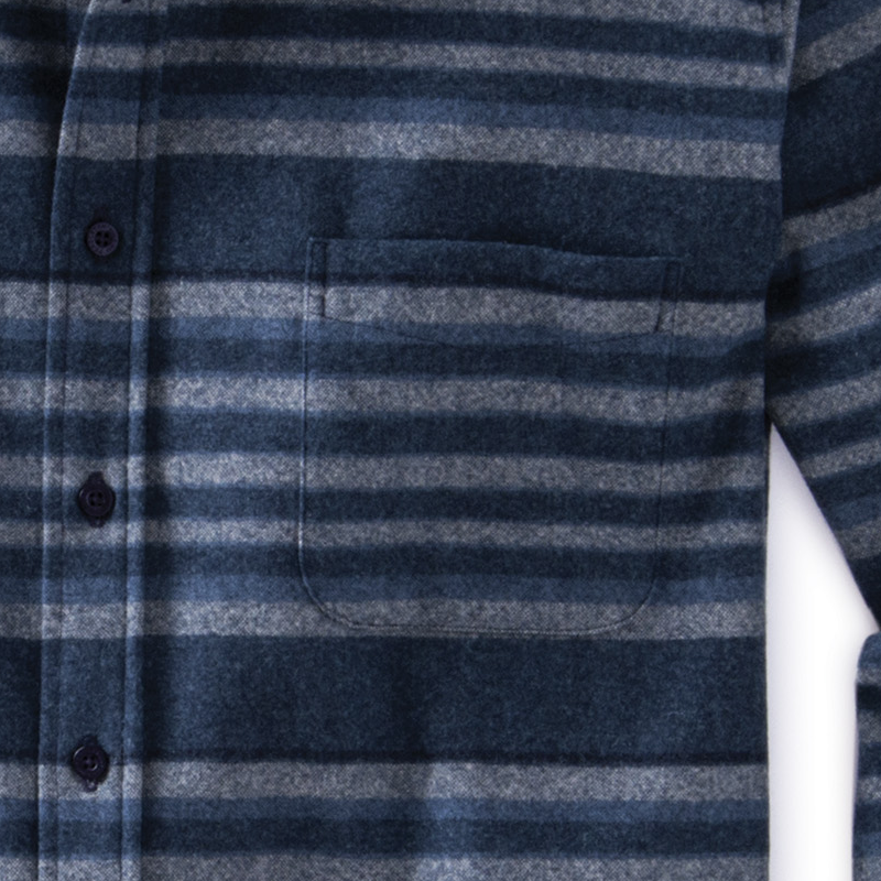 Fitted Lodge Shirt - Indigo Stripe