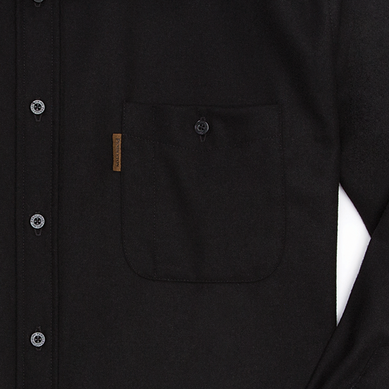 Fitted Trail Shirt - Black Solid