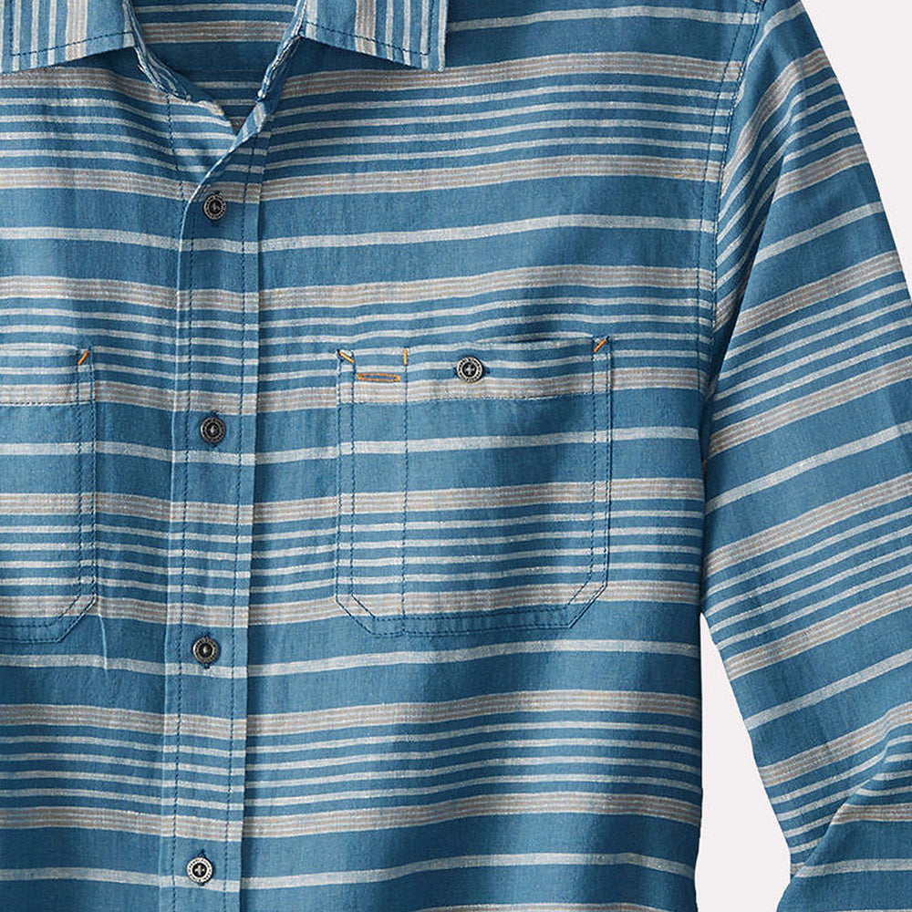 Kay Street Shirt - Navy/Cream Stripe