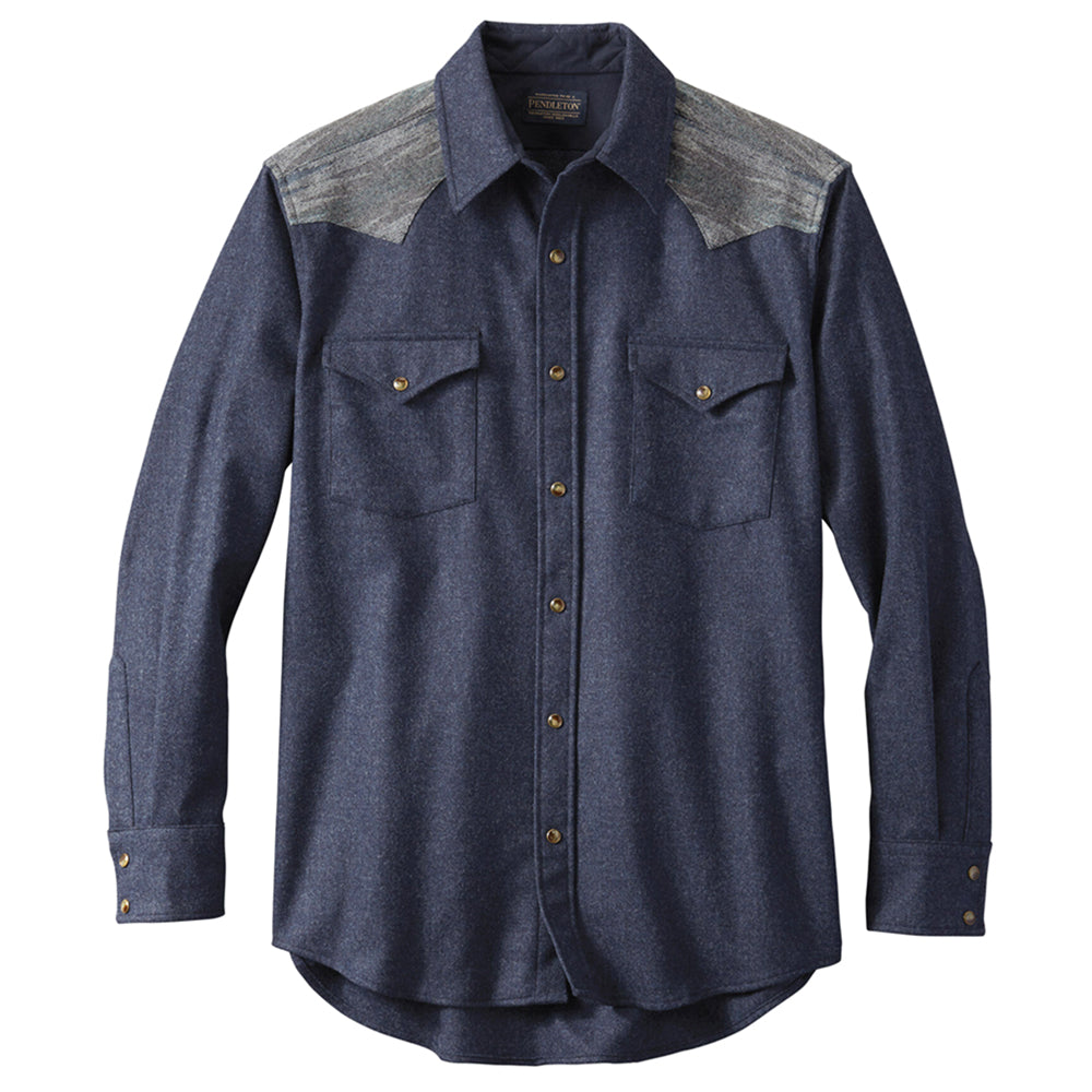 Fitted Pieced Canyon Shirt - Navy Mix