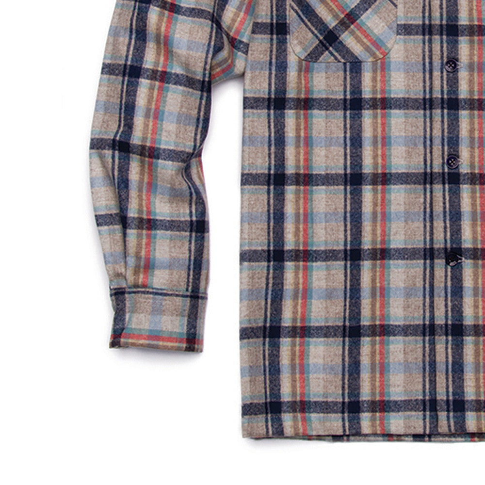 Classic Board Shirt - Surf Pendleton Tan/Blue/Coral Plaid