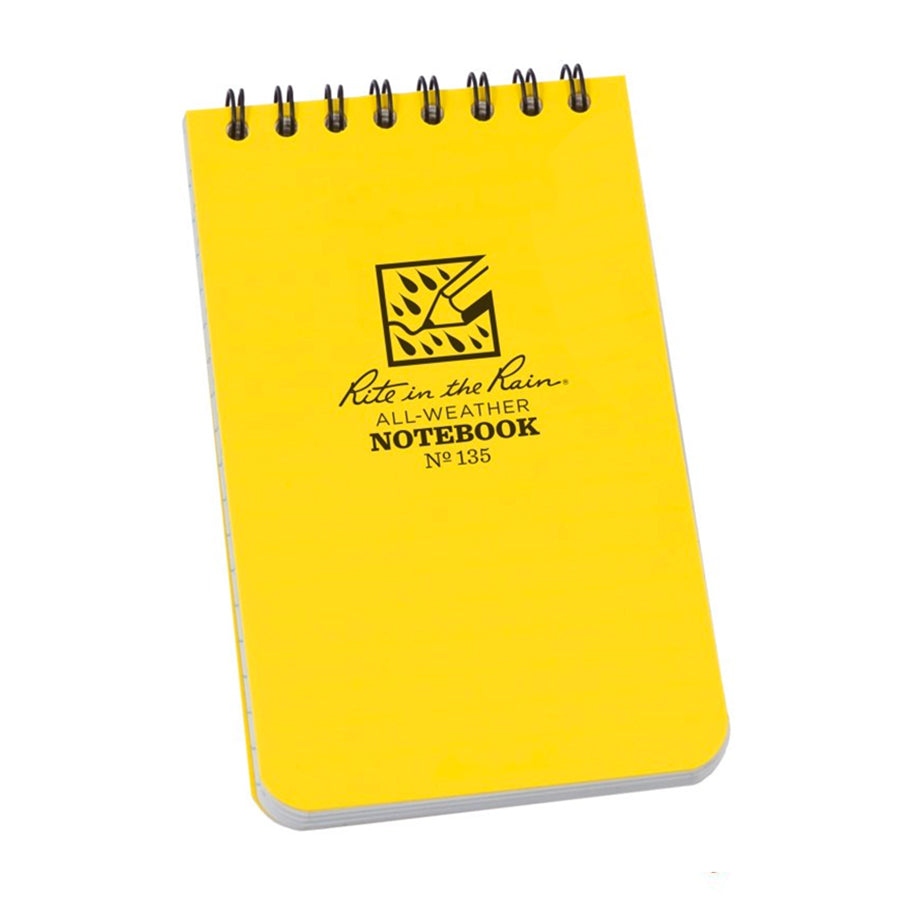 "Top-Spiral Pocket Universal Notebook 135 - 3"" X 5"" - Yellow"