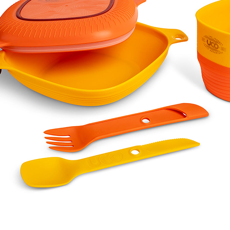 Six Piece Mess Kit - Plastic - Sunrise