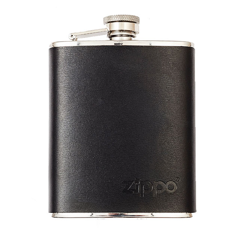 Hip Flask - Leather Wrapped