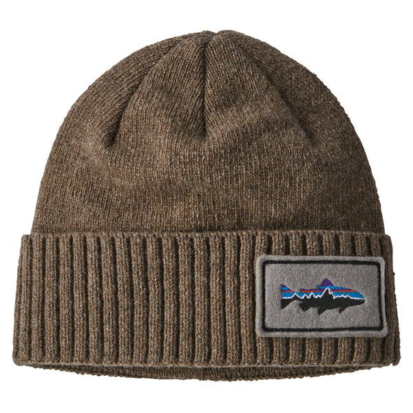 Brodeo Beanie - Fitz Roy Trout Patch: Ash Tan