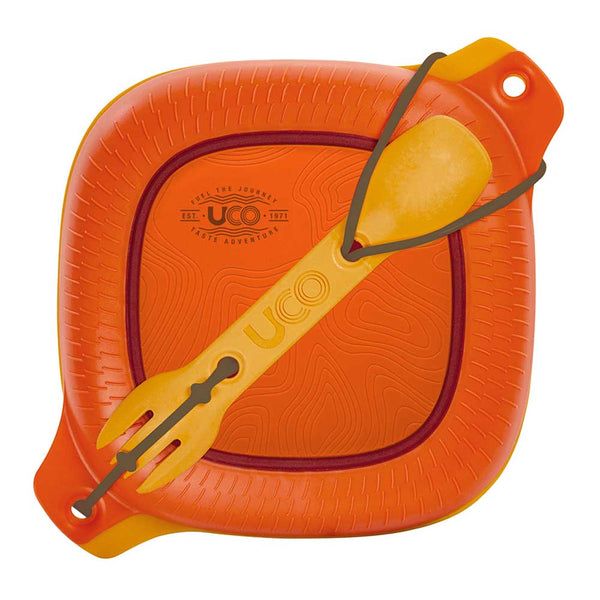 Four Piece Mess Kit - Plastic - Orange/ Yellow