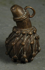 Fair Trade Camerounian Brass Calabash Rattle Pendant
