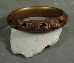 Fair Trade Camerounian Brass Round Disc Bracelet