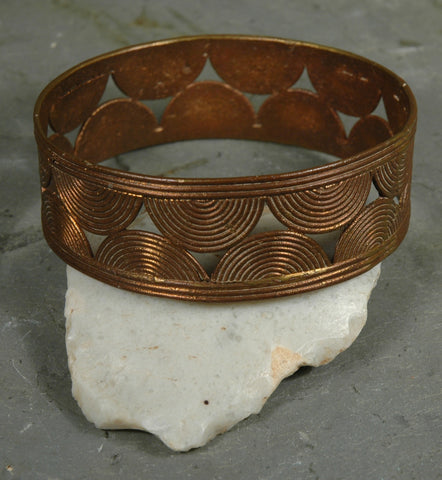 Fair Trade Camerounian Brass Flat Disc Bracelet