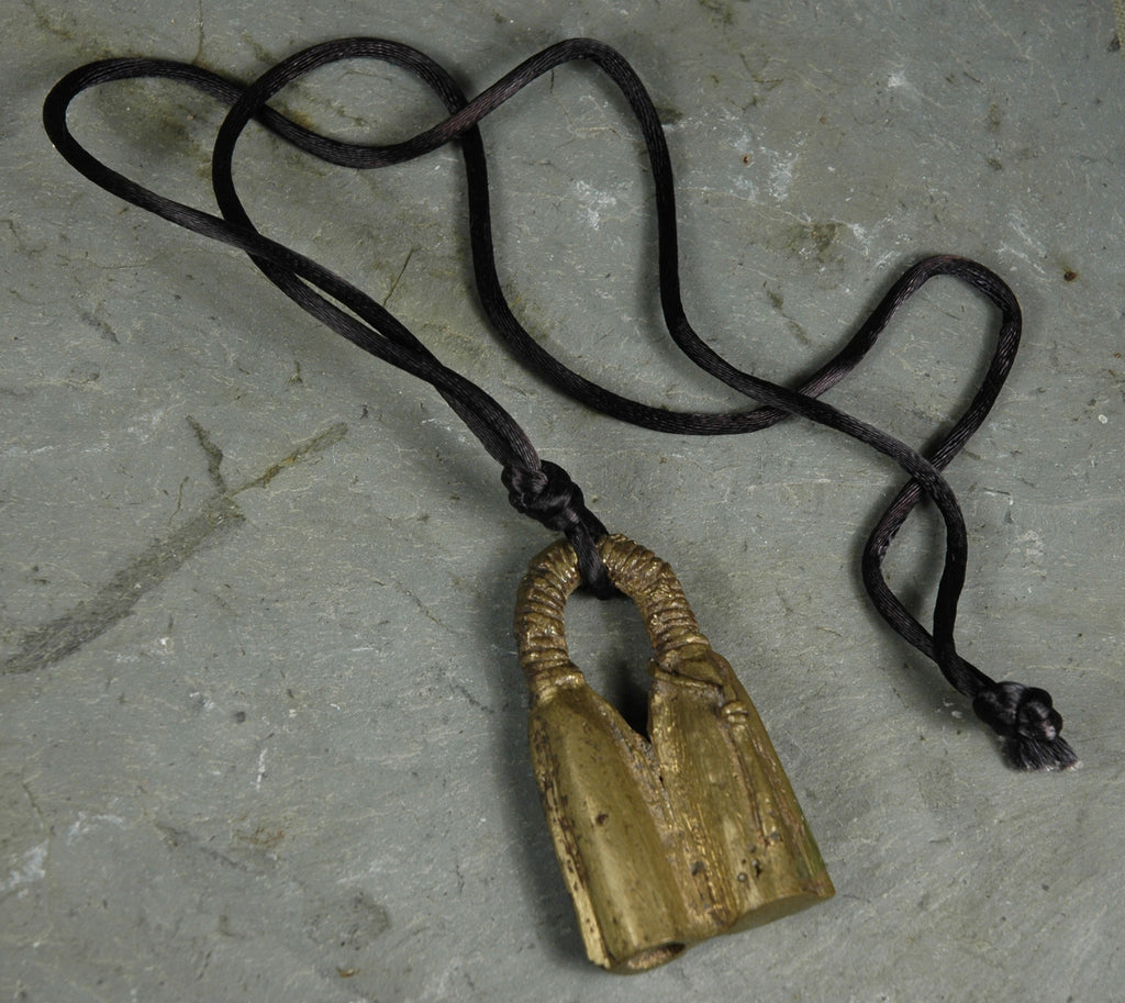 Fair Trade Camerounian Brass Double Gong Pendant